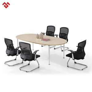 Multifunctional meeting training room oval modular conference tables