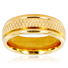 2017 Newest Products Men's Gold Plated Titanium Cross Weave Ring Wedding Rings Gold Jewellery
