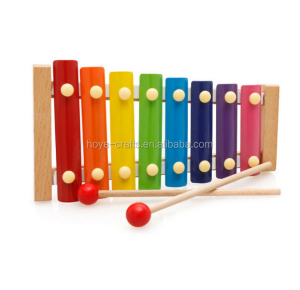 Wooden Xylophone 8-Note Music Instrument Infant Children Musical Instrument Montessori Materials