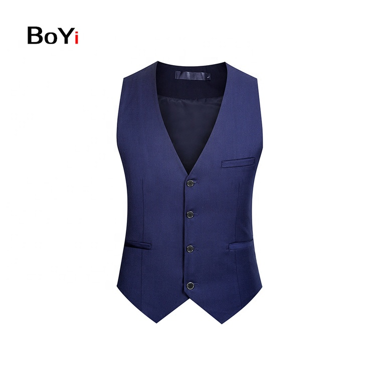 New Style Fashion Formal Solid Color Vest Designs For Men