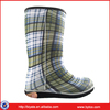 New Women's Injected Rubber Flat Wellie Wellington