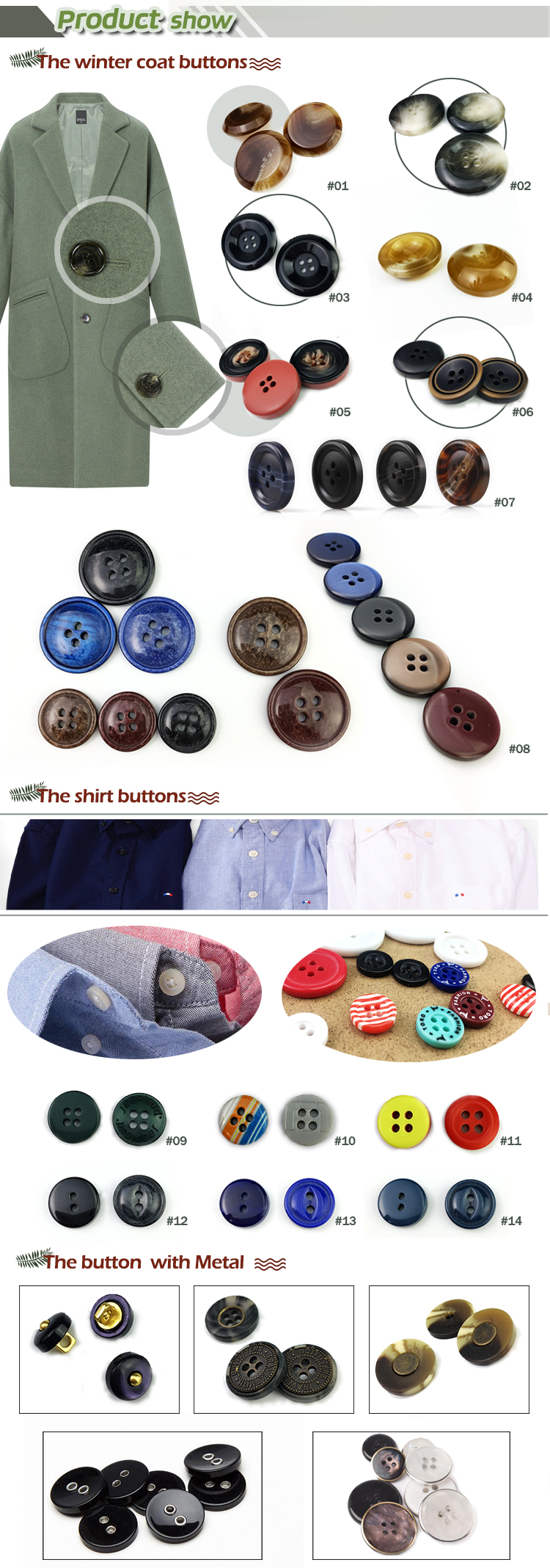 China Garment Plastic Button Factory ,Wholesale Custom Shirt Button , Resin Sew Plastic Button
