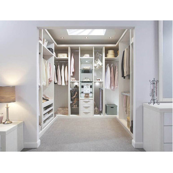 High Quality Modern White Wood Walk In Wardrobe Closet With Many Drawers China Factory Price Walik