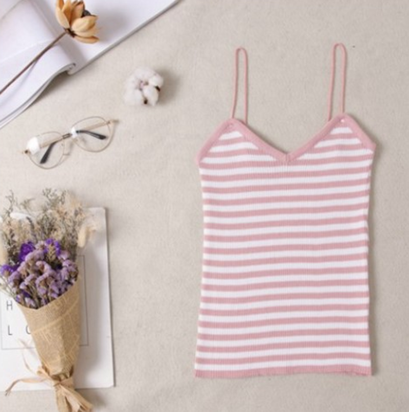 Soft Summer Sexy Women knitting Camisole Tops Ladies Sleeveless Tank