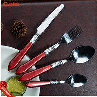 Party wedding silver coated flatware / eco-friendly plastic handle cutlery / cutlery set