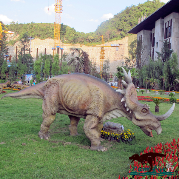 OAJ 8553 Outdoor Realistic Life-size Animatronic Dinosaur Statue Suchomimus