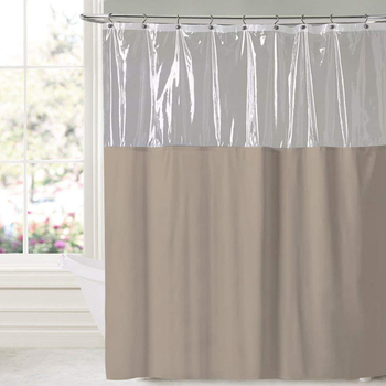 Transparent PVEA Curtain Hotel Polyester Shower Curtains