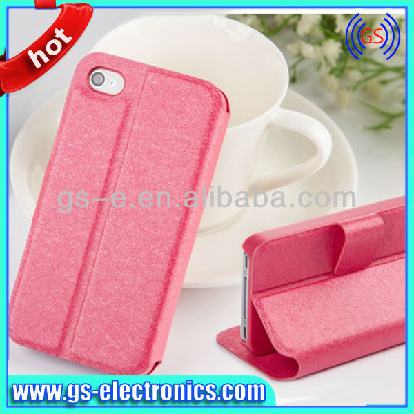 For <strong>iPhone</strong> 5/5S 5C Silk Folio PU Leather Cases lowest factory price