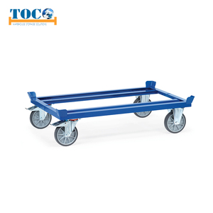 TUV, CE, ISO9000 Certified Four-wheel Pallet Dolly For Euro Pallets