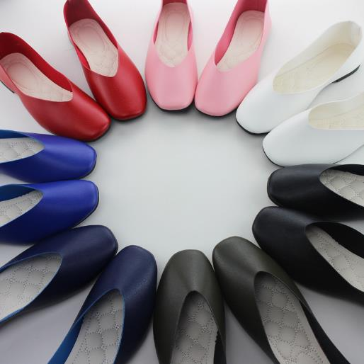 Europe and America wholesale new design lady shoes soft elegant plus size women flat shoes