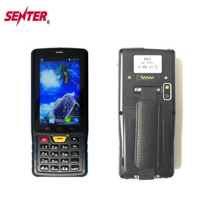 Cheap 134.2KHZ LF RFID animal ear tag Reader Mobile Phone with 1D/2D barcode scanner Rugged PDA android 4.4 OS