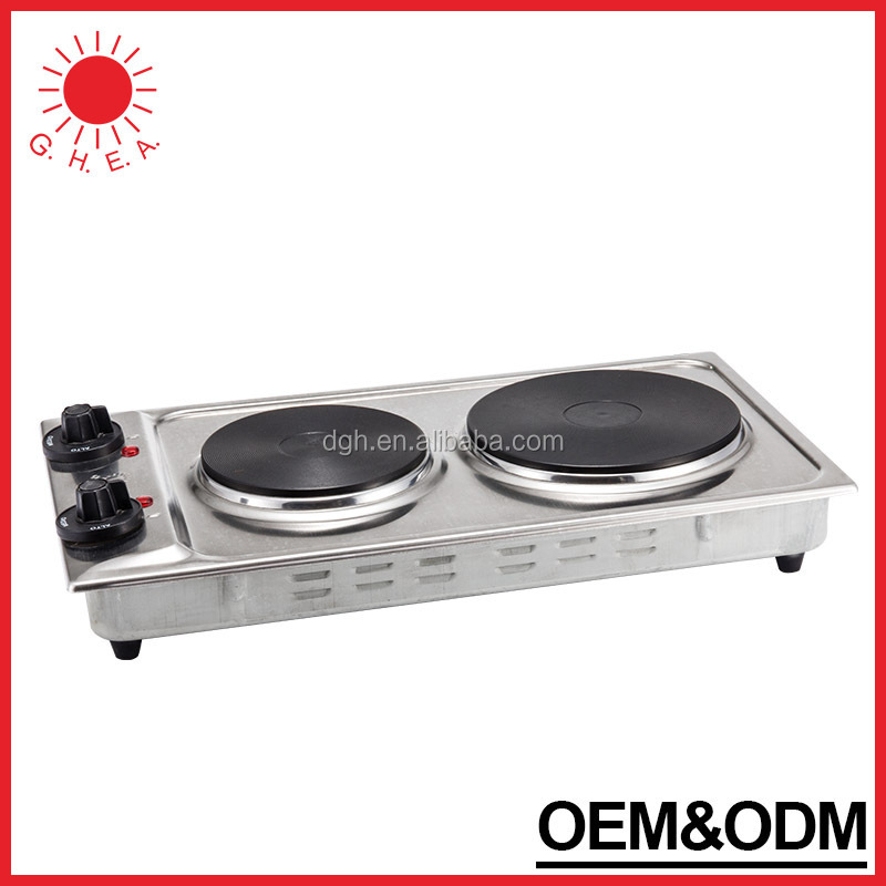 Delightful Portable Electric Hot Plate Mini Travel Hot Plate 2 Burners Electric Stove  Cooking Hot Plate