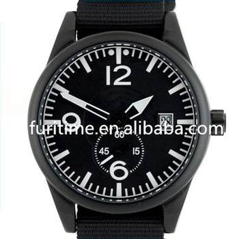 High Quality Military Pilot Aviator Army Style Watch With Nato Strap