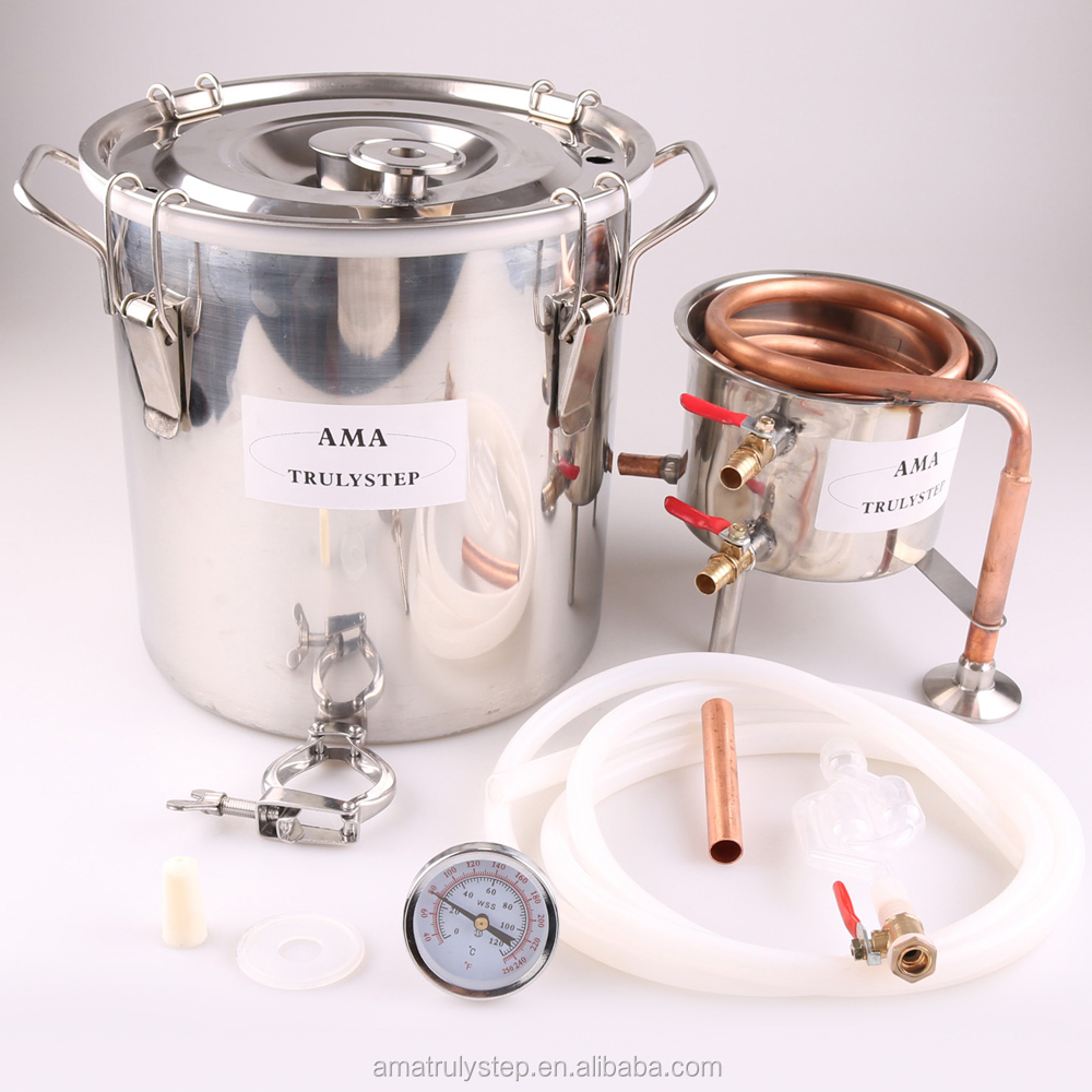 Copper Pipe 5 Gal 20L Alcohol Distiller, Water Distiller for Brewing by Air