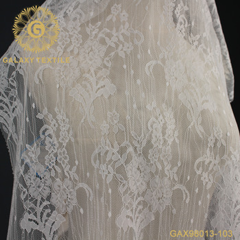 white Delicate Floral French Lace Fabric for wedding gown bridal dress