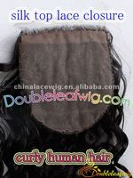 100% human hair silk top lace front closure