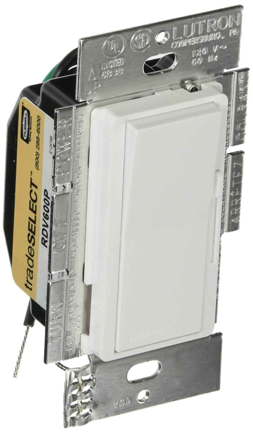 Buy Hubbell Wiring Systems Mr223sp Standard Rocker Switch Double 15 Amp Single Pole 2 Toggle Switches With Back And Side White Rdv600pw Tradeselect Decorator Dimmers Preset Lighting Control Night Light 600w Power 120v Ac