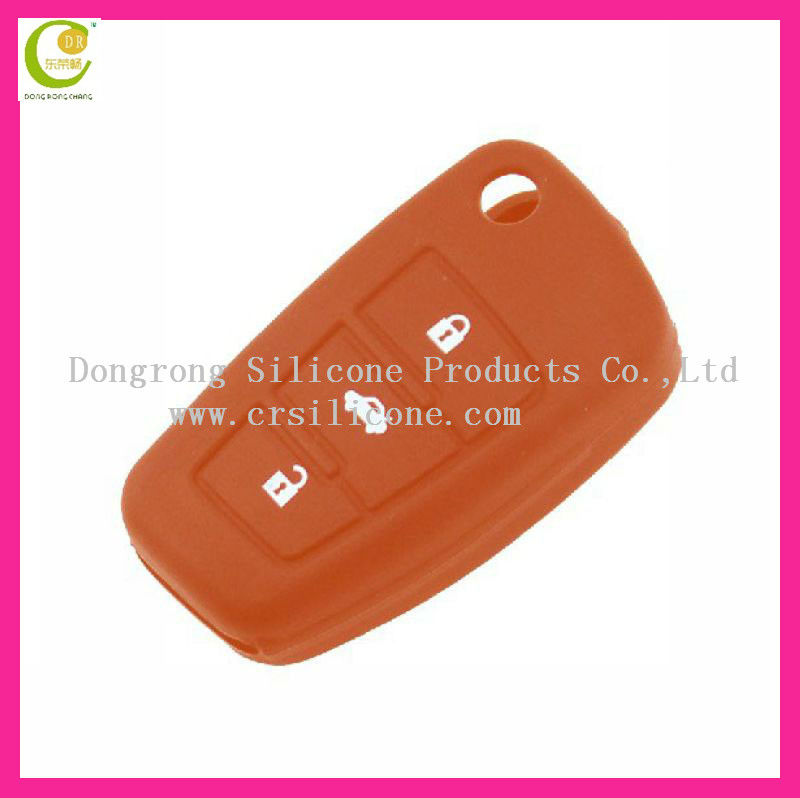 Hot sell top quality original eco-friendly silicone transponder fashion silicone key case for audi