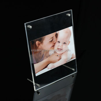 New Style Plexiglass Magnet Photo Frame Large Acrylic Cube Photo
