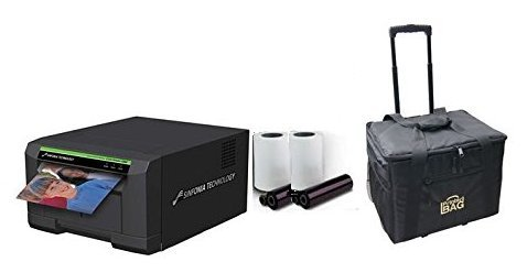 Sinfonia CS2 Photo Printer for Photo Booths BUNDLE with Rolling Carrying Case and box of media (600 prints)