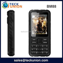 BM88 Waterproof phone shockproof and dustproof low price alps mobile phone with 2000mah strong battery