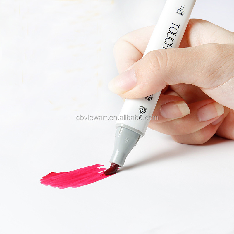 Professional multi colors permanent artist sketch marker pen for art