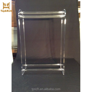 Factory Price Wholesale Custom Vintage Acrylic Lucite Towel Rack Stand