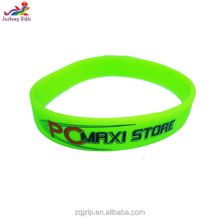 Guangdong manufacturer custom silicone bracelet single,all kinds rubber wristbands