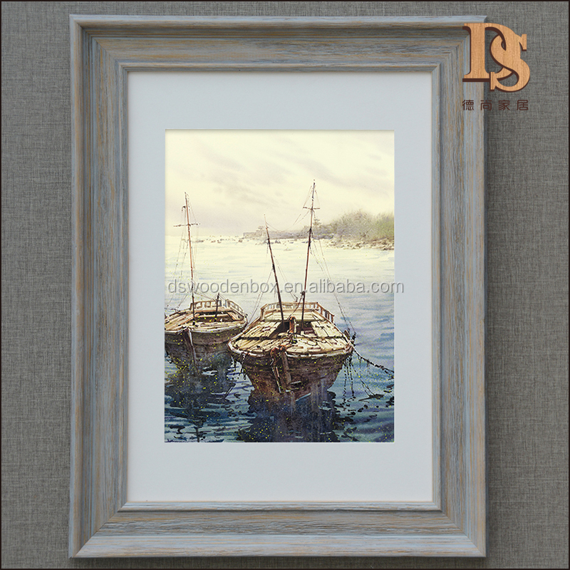 Antique Wooden Wall Frame Oil Painting Canvas Advertising Wooden Frame