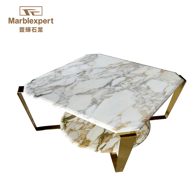 Side Natural Marble Slab Table Top