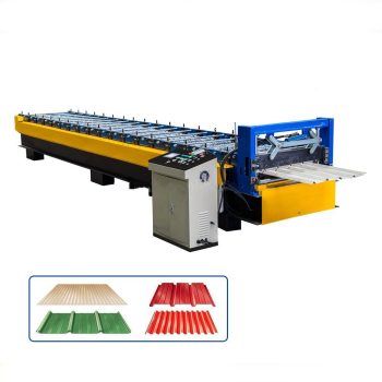 Trapezoidal wave profile roll forming machine container house profile YX35-278-1112