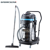 80L large commercial wet & dry Industrial vacuum cleaner with 3 silent motor