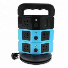 Wholesale 220V 10A multiple outlet 2-layer vertical extension US power socket with 2 USB