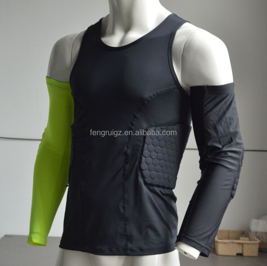 Rubber Foam Padded Compression Shirt - Buy Compression Shirt ... 1c3a96872