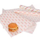 Printed greaseproof paper,high quality food grade greaseproof paper raw material,burger wrapping paper in roll