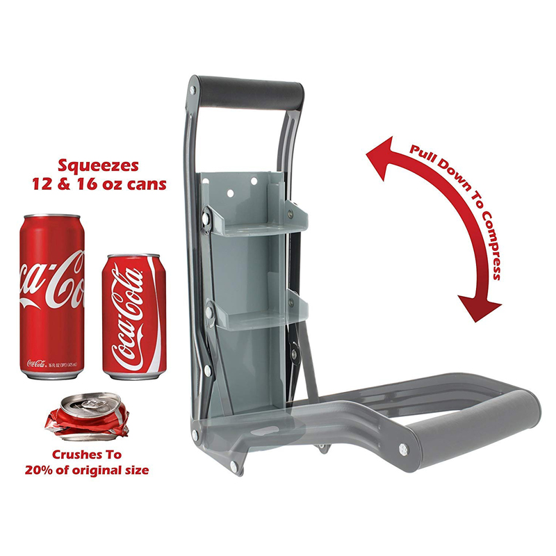 16oz Aluminum Can Crusher & Bottle Opener | Heavy Duty Large Metal Wall Mounted Soda Beer Smasher-Eco-Friendly Recycling Tool