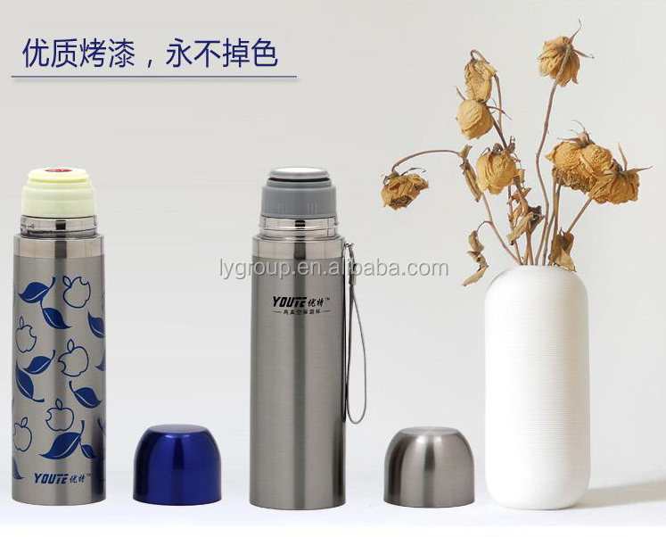 Insulated stainless vacuum bottle with stainless liner/stainless steel vacuum sports bottle, travel pot, thermos bottles