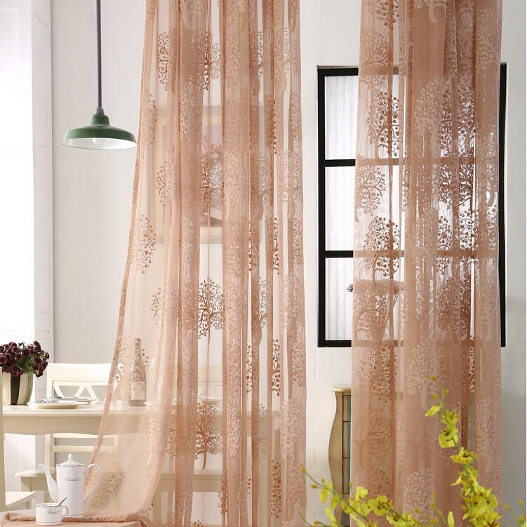 suerte diseo de los rboles de la ventana perspectiva pura tela de malla cortina decoracin