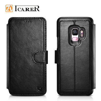 Detachable Card Slots Wallet Flip Case Cell Phone Credit Case for Samsung S9