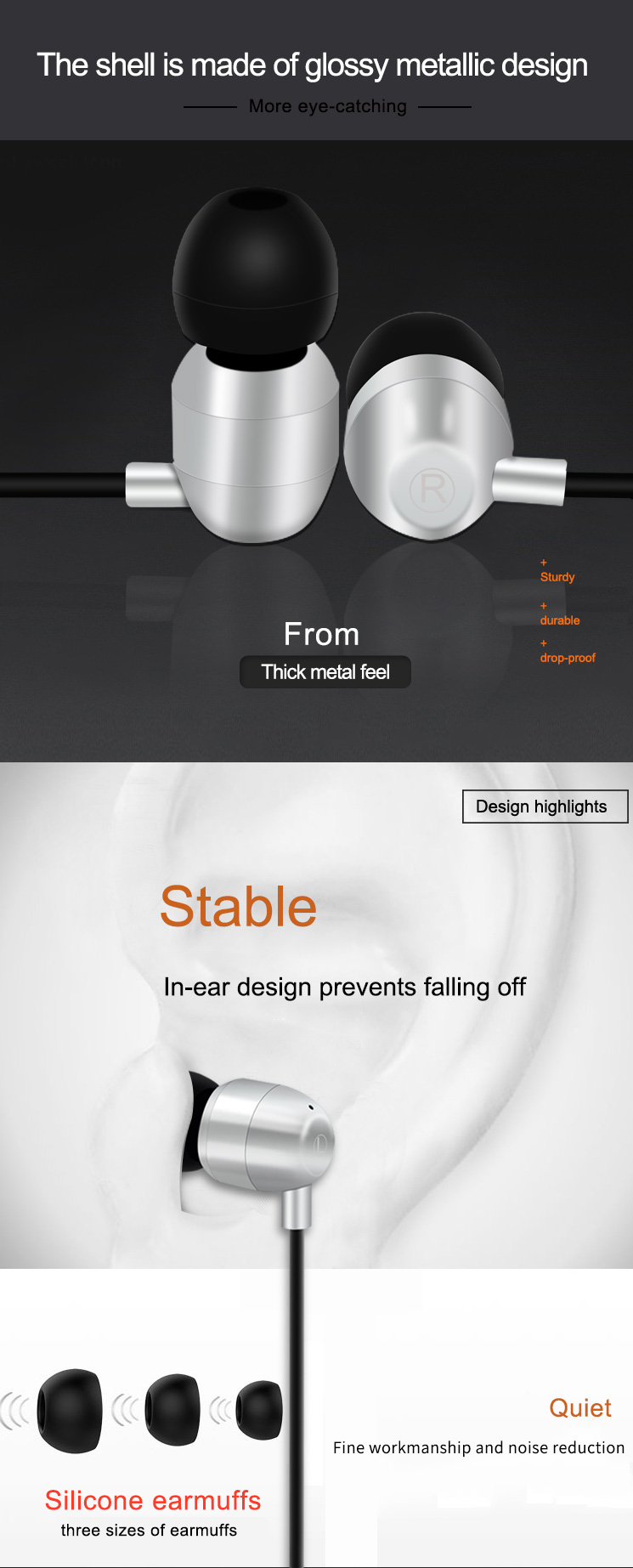 YooType Hifi 3.5MM Wired Earphone For Smartphone