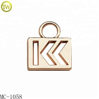 Custom gold necklace charm pendant cutting out metal charms