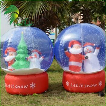 Grande Boule De Neige Gonflable,Boule De Noël En Plein Air,Boule
