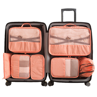 7 set Portable Larage Organizers Storage Set Packing Cubes Travel Duffel Organizer Storage Bag