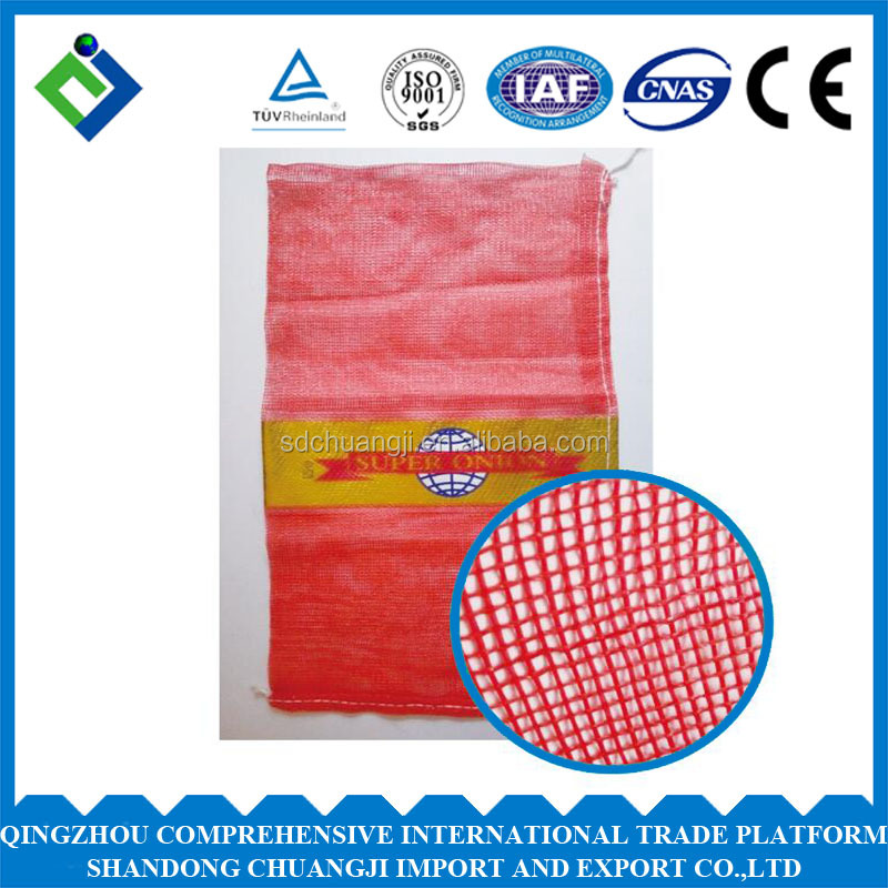 Customized Agricultural Potato/Onion/Garlic Mesh Bag With Custom Logo