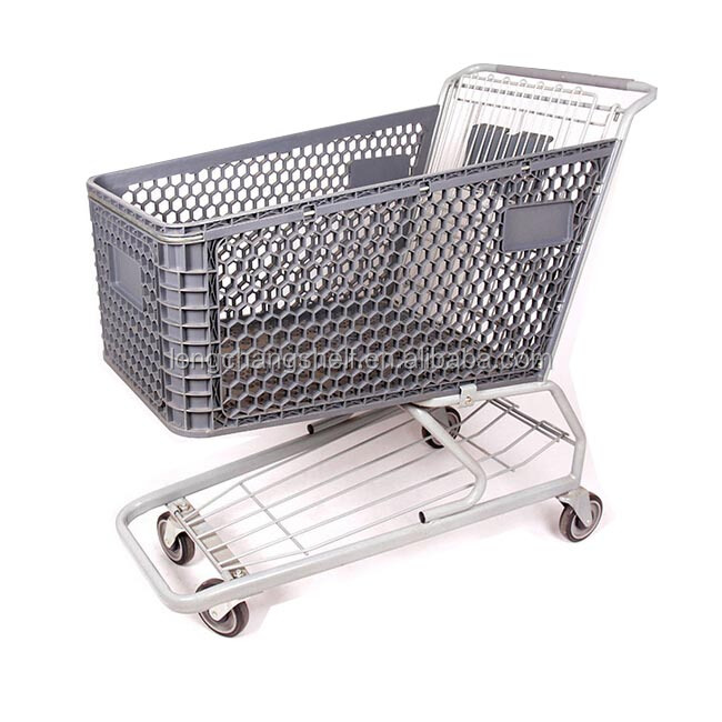 High Quality Cheap Heavy Duty Shopping Trolley Hand Cart For Super Market