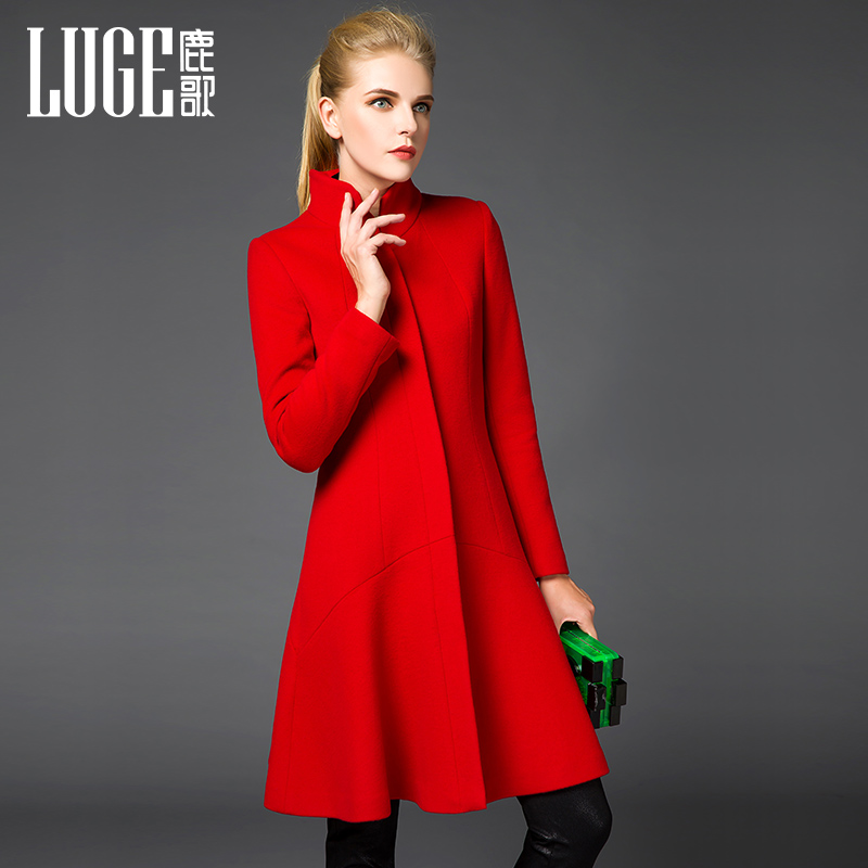 c72117810d3 Robes de mode  Robe rouge laine femme