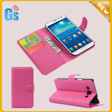 Hot Pink Folio Stand Leather Purse Cute Case For Samsung Galaxy Grand 3 G7200 Cover