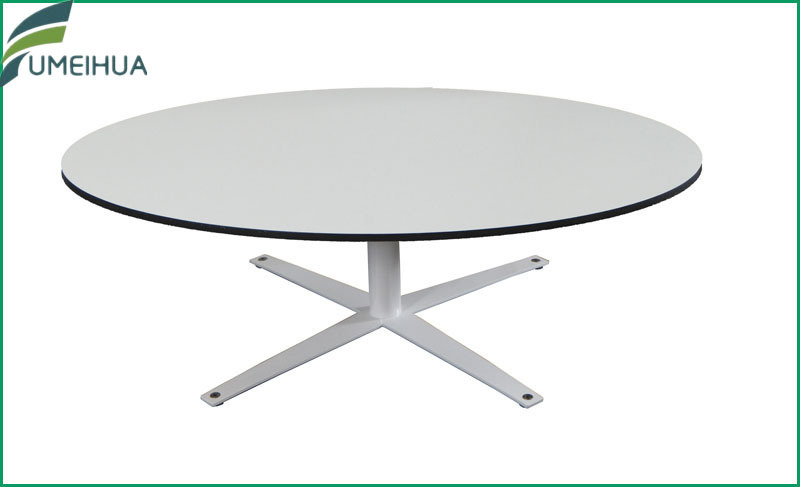 light grey / white square / round hpl compact laminate table top