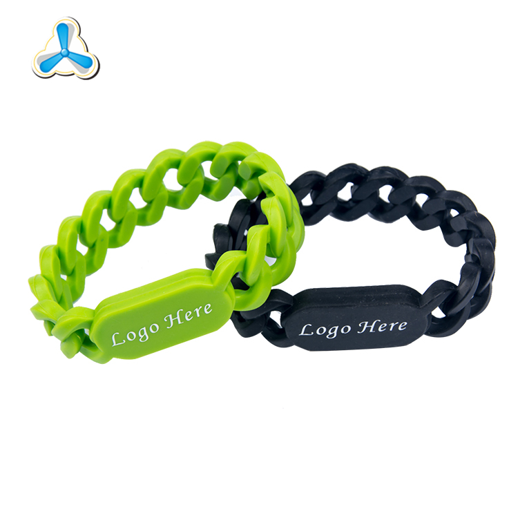 Cheap custom silicon woven bracelets