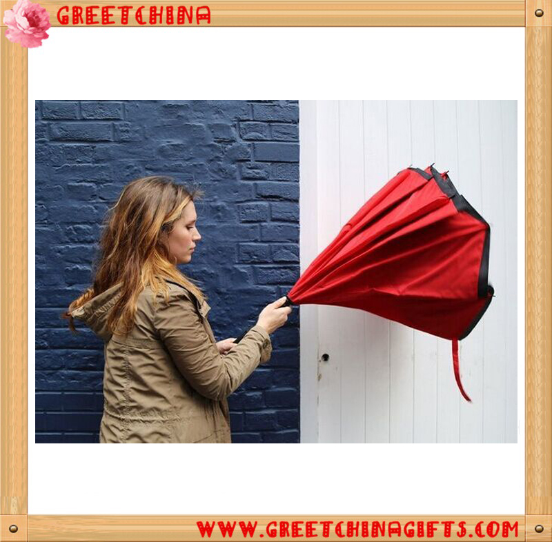 Custom logo windproof double layer c handle reverse umbrella upside down double layer inverted umbrella for car